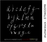 alphabet   number   handwriting ... | Shutterstock .eps vector #375602098