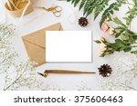 stylish branding mockup with... | Shutterstock . vector #375606463
