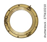 porthole isolated with clipping ... | Shutterstock . vector #375610210