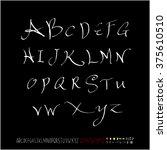 alphabet   number   handwriting ...   Shutterstock .eps vector #375610510