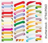 colorful ribbon and banner... | Shutterstock .eps vector #375619063