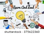 learn and lead education... | Shutterstock . vector #375622360