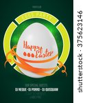happy easter egg party poster... | Shutterstock .eps vector #375623146