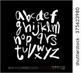 alphabet   number   handwriting ... | Shutterstock .eps vector #375623980