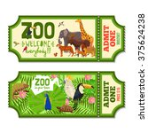 colorful zoo tickets with