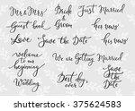 Romantic Wedding Lettering...