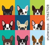 Boston Terrier Pattern Vector...