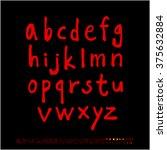 alphabet   number   handwriting ... | Shutterstock .eps vector #375632884