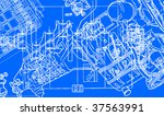 technical drawing background 2 | Shutterstock .eps vector #37563991