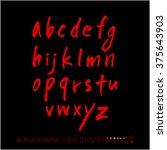 alphabet   number   handwriting ... | Shutterstock .eps vector #375643903