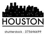 abstract houston skyline  with...   Shutterstock .eps vector #375646699
