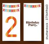 birthday party design  | Shutterstock .eps vector #375649660