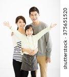 happy asian family standing...   Shutterstock . vector #375651520