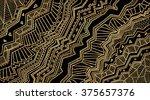 art deco abstract vector... | Shutterstock .eps vector #375657376