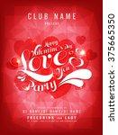 happy valentine day love you... | Shutterstock .eps vector #375665350