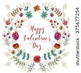 valentines day vintage... | Shutterstock .eps vector #375677254
