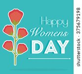 happy womens day design  | Shutterstock .eps vector #375679198