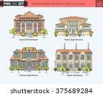 flat line architecture design....   Shutterstock .eps vector #375689284