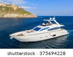 Luxury Motoryacht In Navigation