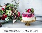 wedding cake | Shutterstock . vector #375711334
