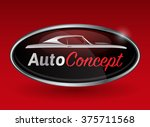 concept automotive logo design... | Shutterstock .eps vector #375711568