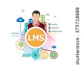 learning management system  lms ... | Shutterstock .eps vector #375718888