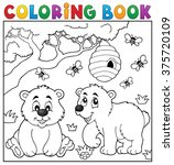 coloring book bear theme 4  ... | Shutterstock .eps vector #375720109