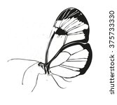 beautiful silhouette butterfly... | Shutterstock .eps vector #375733330