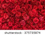 Backdrop Of Vivid Red Paper...