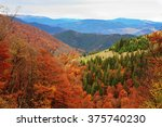 beech forest on the slopes of... | Shutterstock . vector #375740230