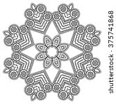 vector henna tatoo mandala.... | Shutterstock .eps vector #375741868