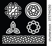 celtic irish patterns and knots ... | Shutterstock .eps vector #375744250