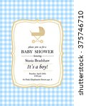 Baby Shower Boy Vichy Style Card