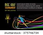 disc golf sport  flying disc... | Shutterstock .eps vector #375746734