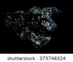 bubbles water on dark background   Shutterstock . vector #375748324