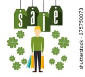 saint patricks sale design  | Shutterstock .eps vector #375750073