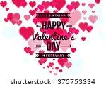 happy valentine's day... | Shutterstock .eps vector #375753334