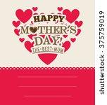 happy mothers day   Shutterstock .eps vector #375759019