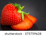 Small photo of Sexy strawberries (Fragaria) - small vitamin bomb and tidbits. aphrodisiac