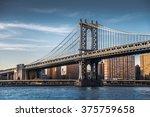 manhattan bridge  new york  usa | Shutterstock . vector #375759658