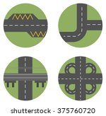 vector illustrations of freeway ... | Shutterstock .eps vector #375760720