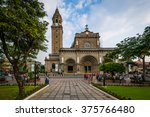 the manila cathedral  in... | Shutterstock . vector #375766480