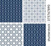set of 4 seamless monochrome... | Shutterstock .eps vector #375767890