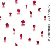 repeatable red rose petals... | Shutterstock . vector #375770140