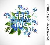 vector spring lettering...   Shutterstock .eps vector #375771880