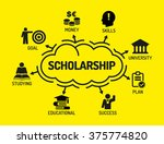 scholarship. chart with... | Shutterstock .eps vector #375774820