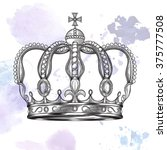 crown. hand drawn vector