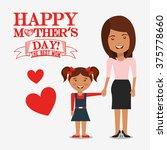 happy mothers day design  | Shutterstock .eps vector #375778660