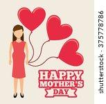 happy mothers day design  | Shutterstock .eps vector #375778786