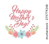 happy mothers day design  | Shutterstock .eps vector #375779248
